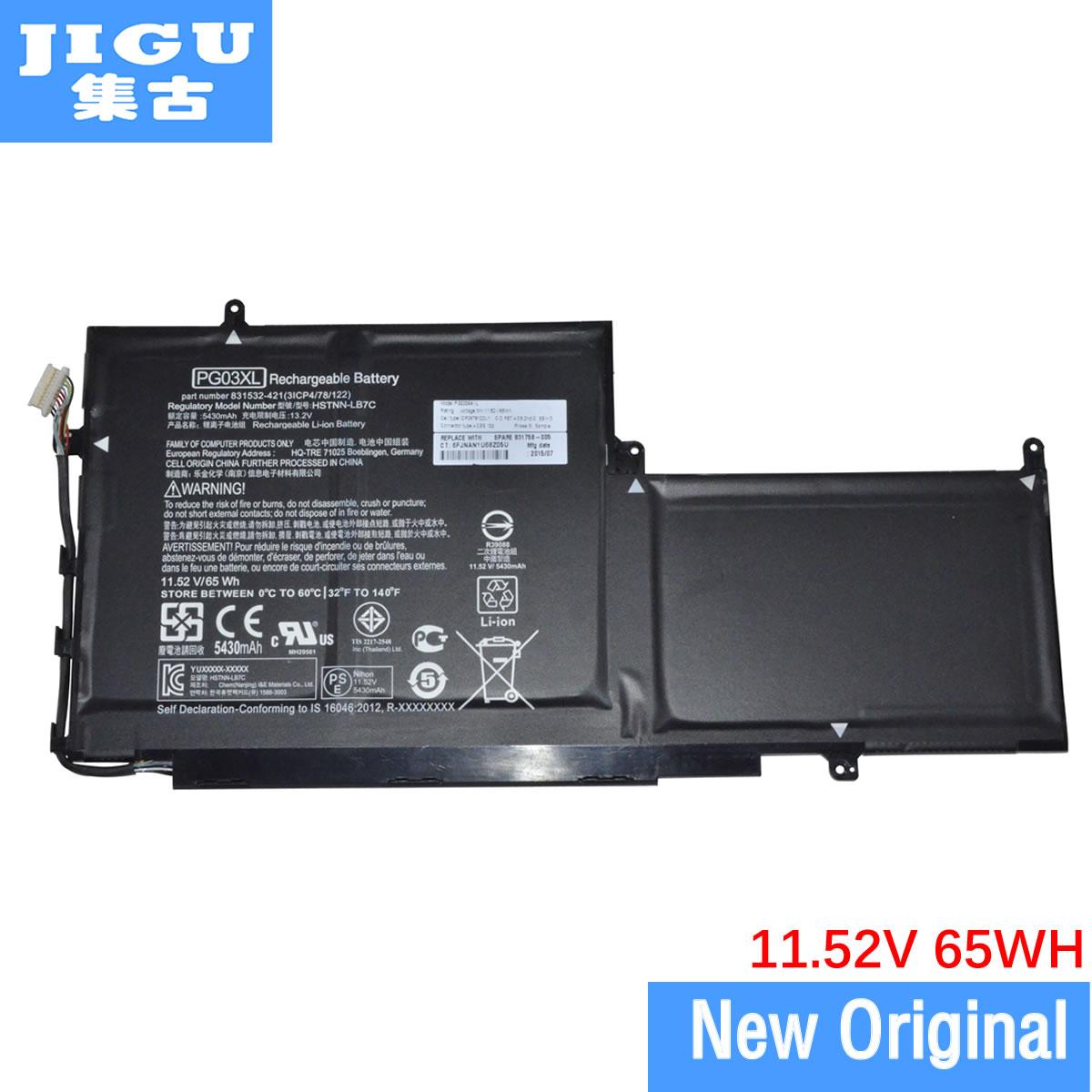 JIGU 65WH الأصلي اللوحي بطارية HSTNN-LB7C PG03XL TPN-Q168 لإتش بي شبح X360 15 Ap011dx 11.52V