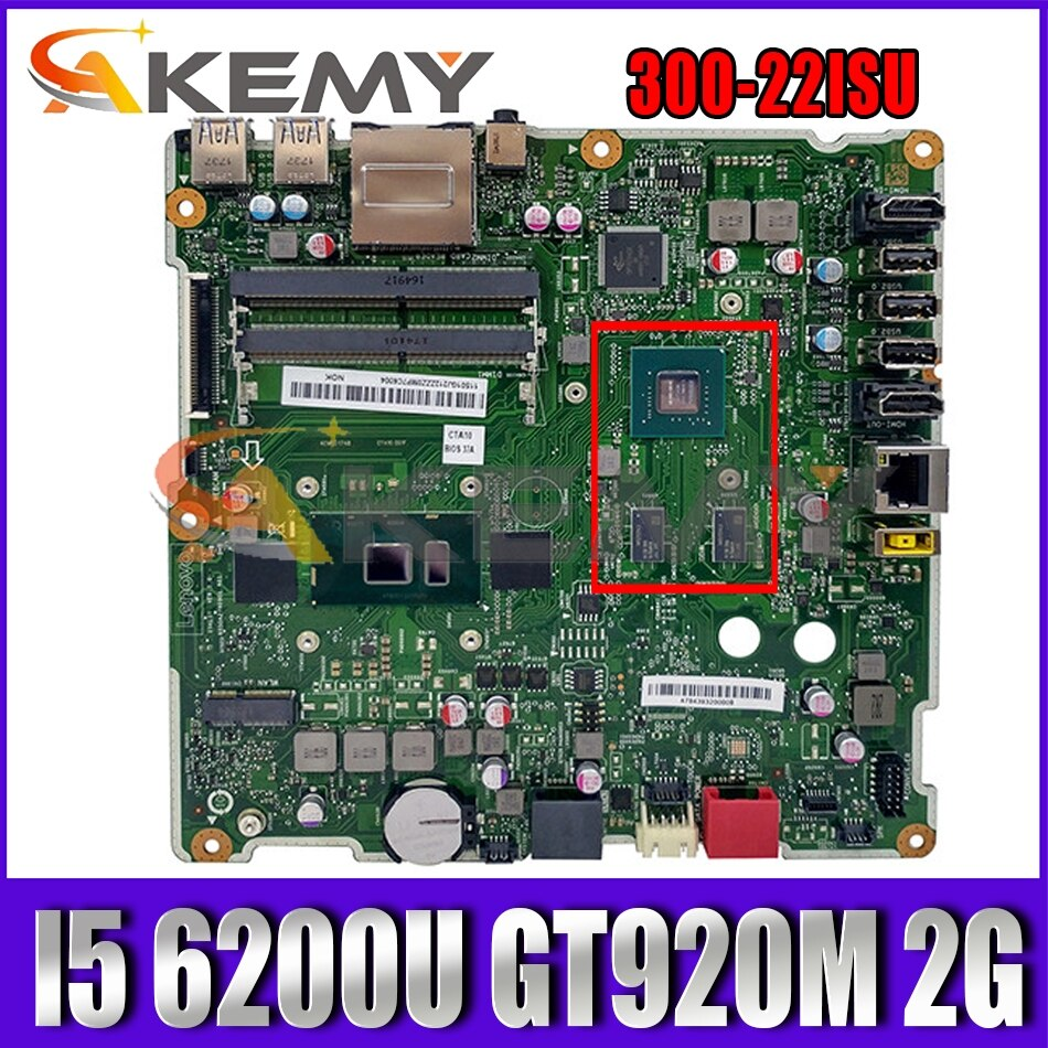 Akemy 6050A2740901 ISKLST لينوفو AIO 300-22ISU الكل في واحد اللوحة 00XG103 00UW104 00UW105 CPU I5 6200U GT920M 2G