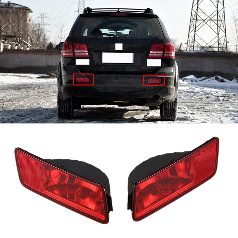 2Pcs Rear Tail Lamp Bumper Fog Lights Daytime Running Driving Lamps Left & Right for Dodge Journey 2009-2012