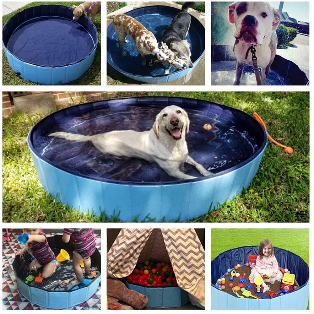 Piscina para mascotas, natación, piscina plegable en piscina, piscina para mascotas, juego de verano, alfombrilla para juegos de césped de PVC, alfombrilla familiar, tobogán de agua