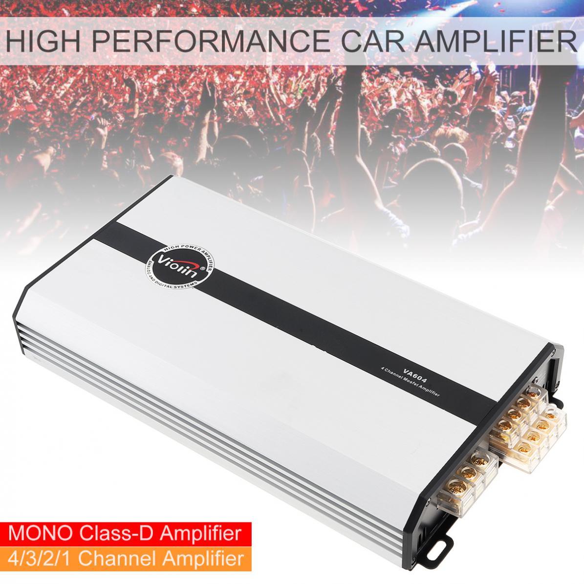 VA604 4 canales Clase D aleación de aluminio Digital de alto rendimiento coches amplificador estéreo sistemas multimedia para coche/hogar