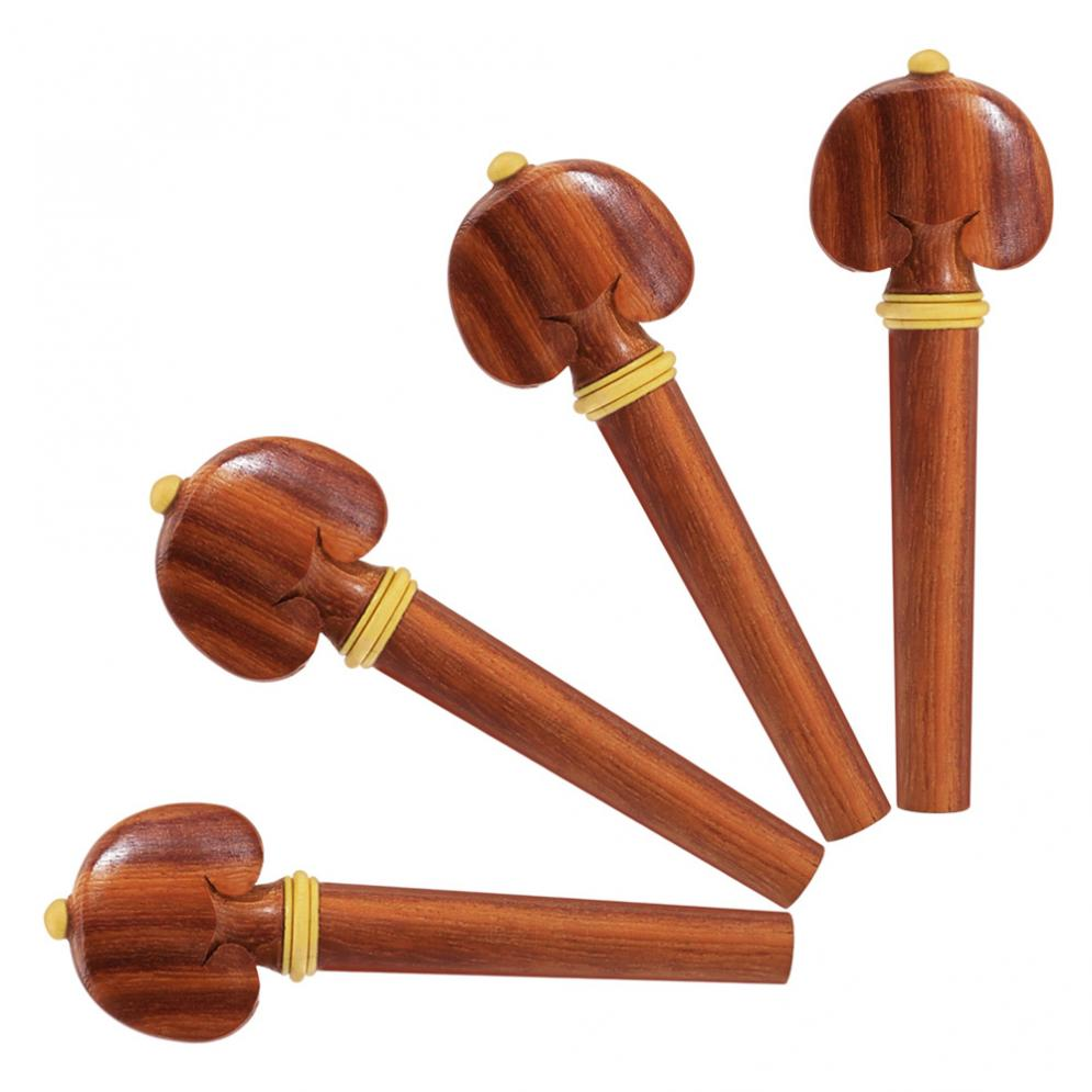 Violin tuning pegs Mahogany Wood 4/4 Violin Parts Accessories Chin Rest & Tuning Peg & Tailpiece & End Pin Violin Accessories enlarge