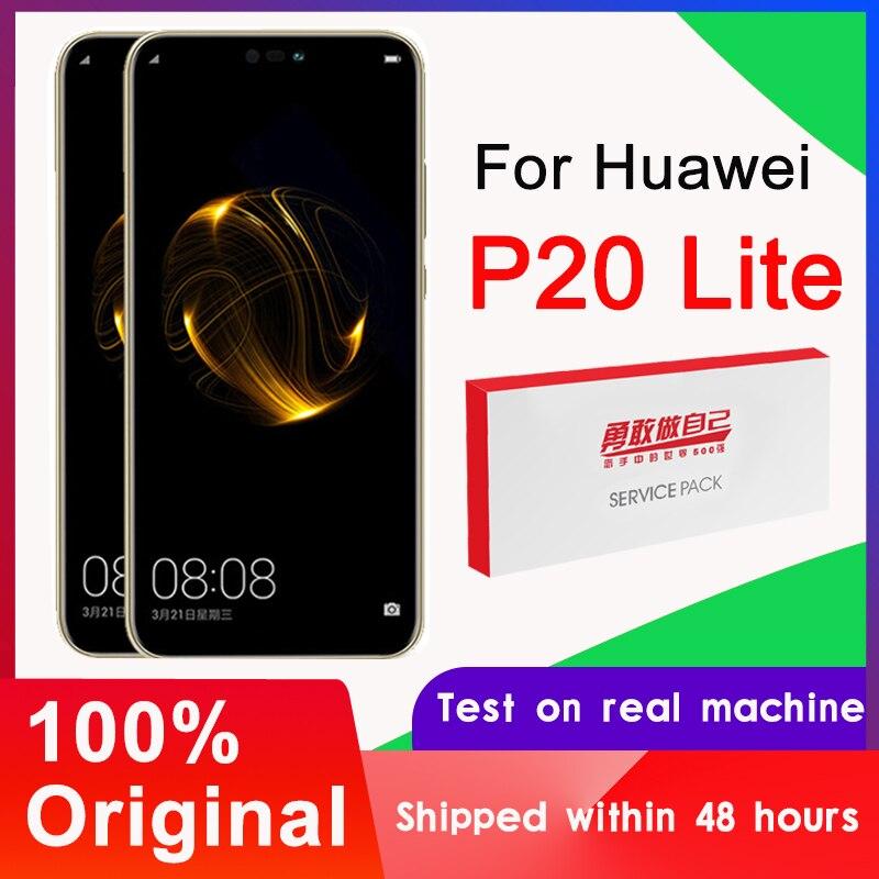 10 TEILE/LOS 5.84 Original Display Ersatz mit Rahmen für Huawei P20 Lite Nova 3e LCD Touch Screen Digitizer ANE-LX1 ANE-LX3