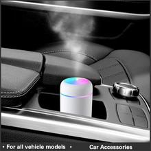 Car Air Freshener LED Air Humidifier Diffuser Air Humidifier Aromatherapy Aroma Fragrance Auto Inter