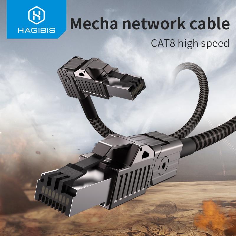 Cable Ethernet hagilis Cat8 supervelocidad RJ45 Cable de red 40Gbps Cable de...