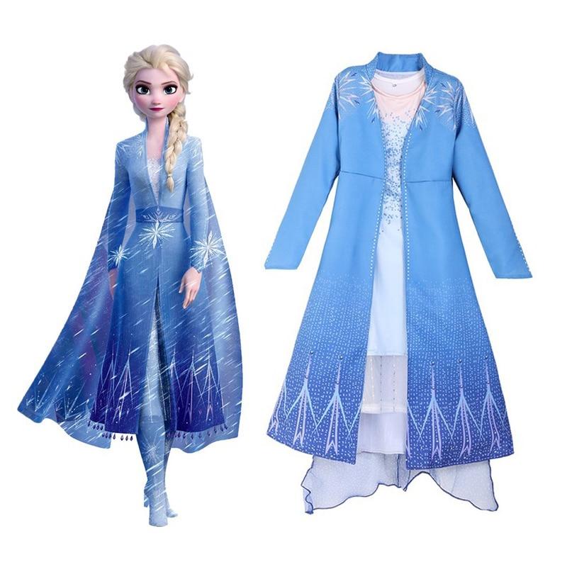La Reina De la nieve Vestido De Elsa para niñas princesa Elsa...