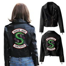 2019 nouveau cosplay Riverdale saison 4 Veronica Lodge PU manteau mince Riverdale Viper Gang veste en cuir impression 3D vêtements féminins