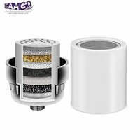 101215 stage replacement shower water filter cartridges for universal shower heads removing chlorine heavy metals sulfur odor