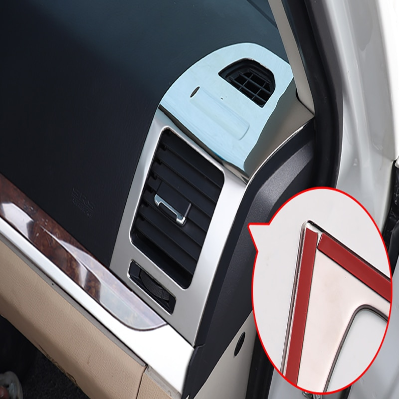 For Mitsubishi Pajero v97v93 Car Left And Right Air Conditioning Outlet Decorative Frame Stainless Steel Car Accessories enlarge