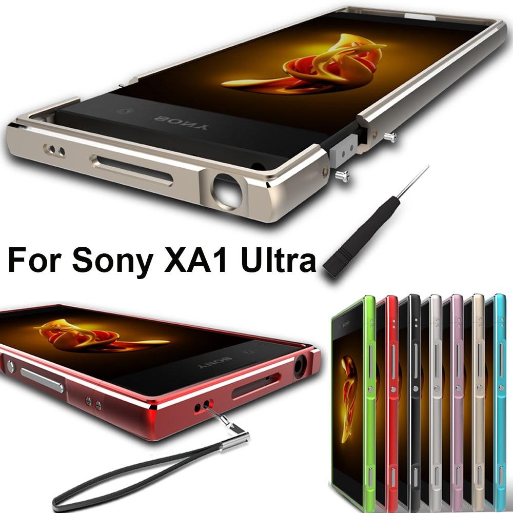 """Para Sony Xperia XA1 Ultra funda Original de aleación de aluminio parachoques de Metal para Sony XA1 Ultra marco de Metal G3226 G3212 G3223 G3221 6"""""""