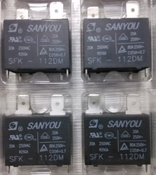 20 unids/lote 100% nuevo y original SANYOU relé SFK-112DM 12V 20A 250VAC para aire acondicionado CC Mini relé de potencia