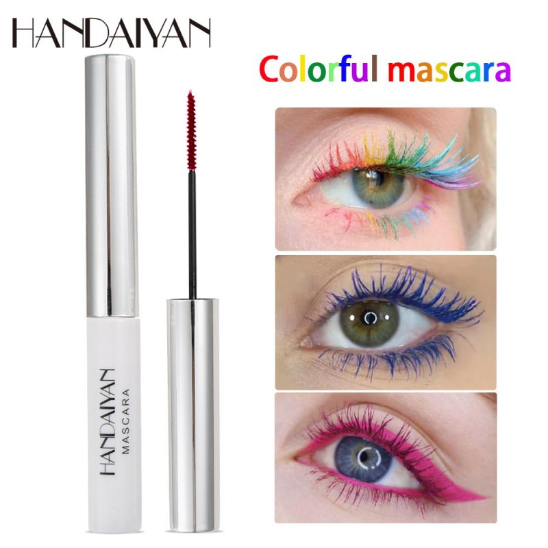 Hot Women Super Thin Eyelashes 4D Charm Mascara Volume Waterproof Lash Extensions Curling Lengthening Colorful Eyelashes TSLM1
