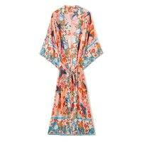 japanese kimono women outfit 2021 summer new long sleeved cardigan fashion loose bohemian sunscreen shirt chiffon long dress