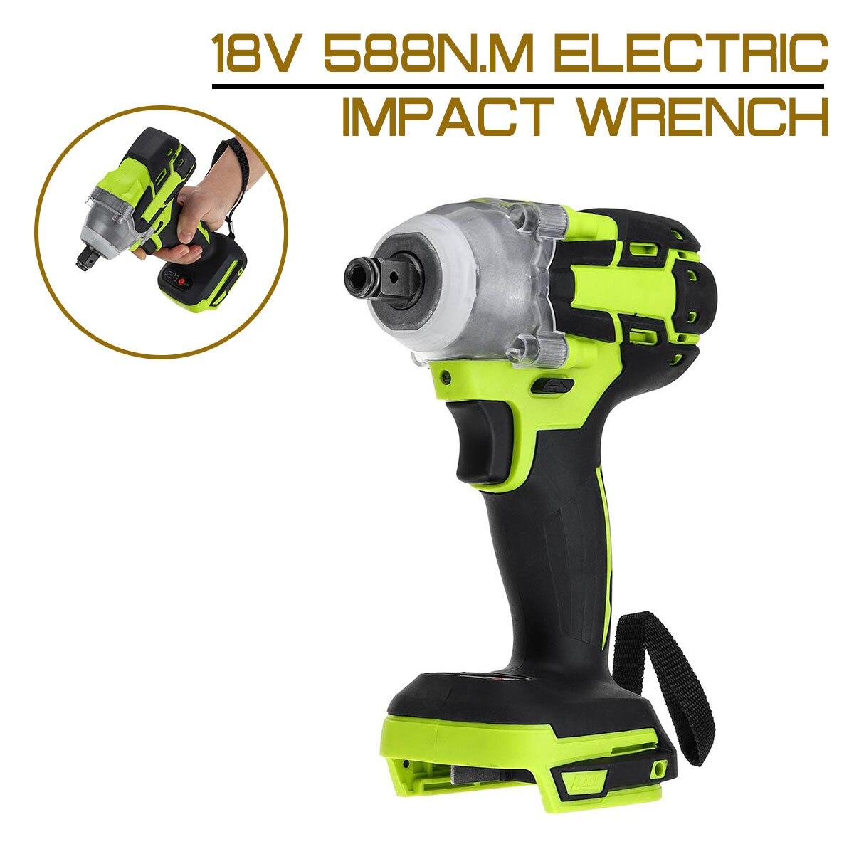 Elétrica sem Escova Chave de Impacto Chave de Soquete Elétrica sem Fio Recarregável sem Bateria Ferramenta 18v 588n.m 1 – 2