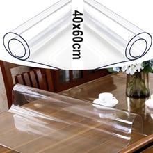 Tapis de Table protecteur de tapis de bureau transparent PVC pour bureau à domicile imperméable à leau protéger la nappe 40x60cm