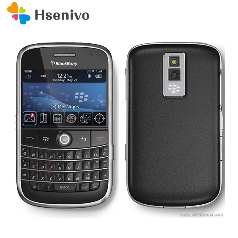 100% teléfono móvil Original desbloqueado 9000 Original Blackberry Bold 9000 GPS WIFI 3G reacondicionado envío gratis