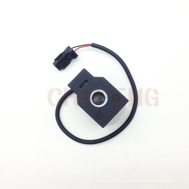 Para hyundai R210-5 piloto bobina de segurança válvula solenóide de segurança acessórios escavadeira