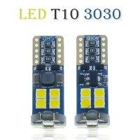 100pcs t10 socket canbus no error 3030 bulb car lamp led diode bulb w5w 194 vehicle license plate clearance lights 12v
