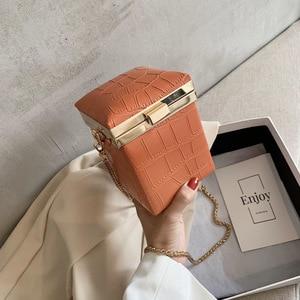 Crocodile Pattern Box Bag 2021 New Chain Fashion Single Shoulder Bag Purses and Handbags Luxury Designer Satchel Handbag