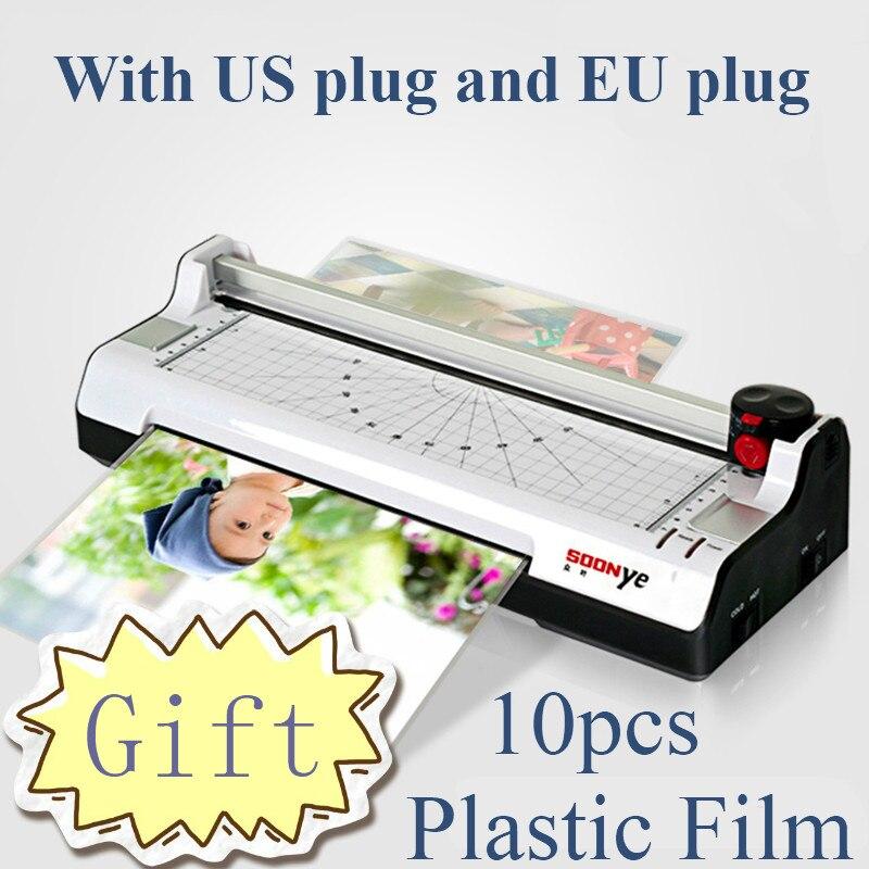آلة تغليف الصور الذكية A4 ، آلة تغليف بلاستيكية مختومة ، مغلفة ساخنة وباردة ، أكياس بلاستيكية