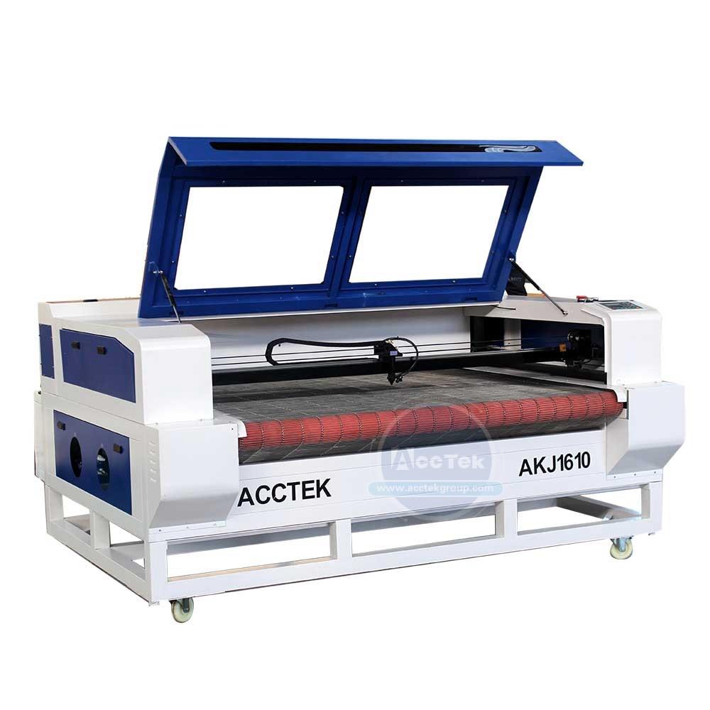 عالية الدقة الليزر القاطع ماكينة قطع الملابس السيارات تغذية تصحيح ماكينة الحفر بالليزر