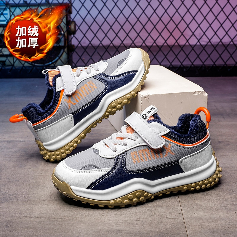 Kid Snow Sneakers Winter Popular Plush Girls' Shoes Children's Leisure Outdoor Cold Proof and Warm Sports Running Shoes Boy Shoe
