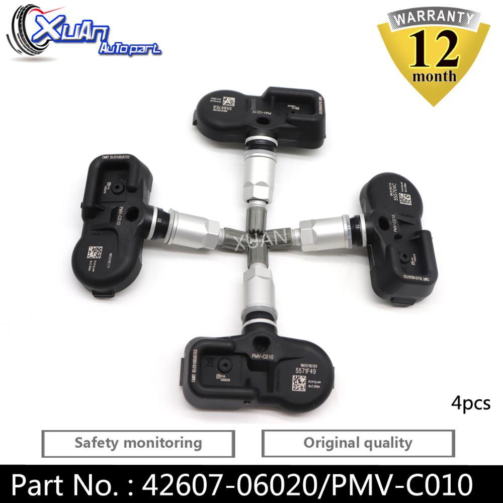XUAN 4 шт. датчик давления в шинах TPMS 42607-52020 для Toyota Avalon Camry Corolla iM Highlander Rav-4 Prius C Prime Yaris