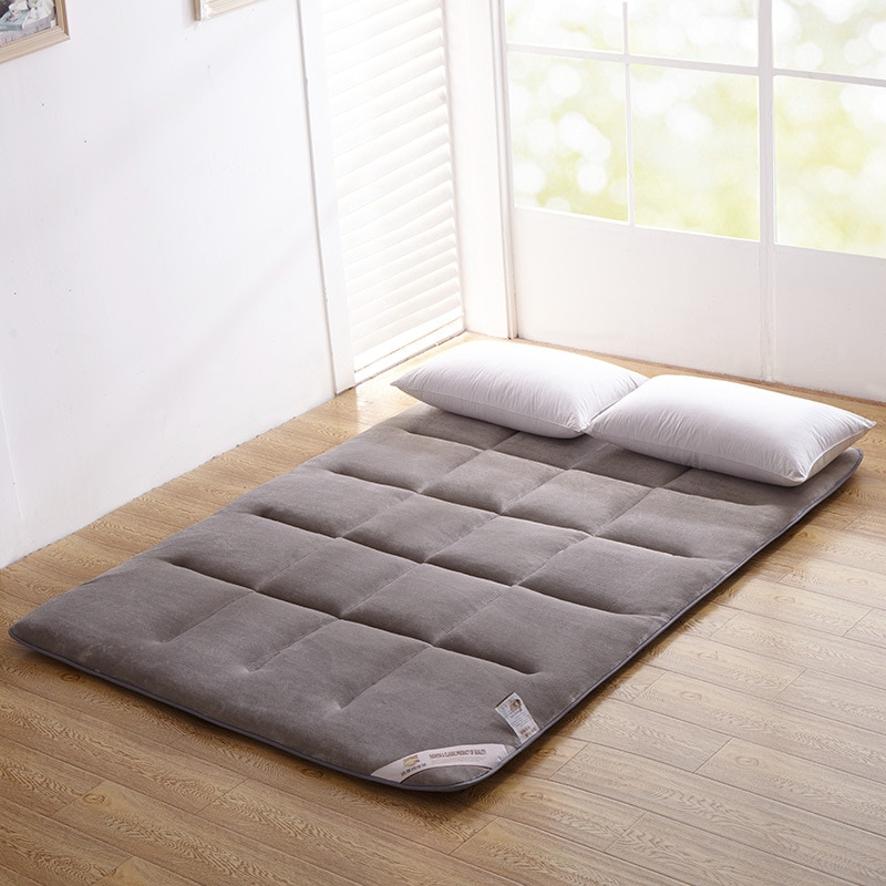 Tatami de franela, cama plegable Kingsize, cojín para dormitorio/hogar, colchón súper suave, Material de seguridad, muebles para dormitorio