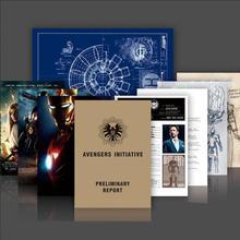 Nowy Iron Man Tony Stark plik Arc reaktor projekt grafika agenci S.H.I.E.L.D Avenger informacje figurka dla dzieci