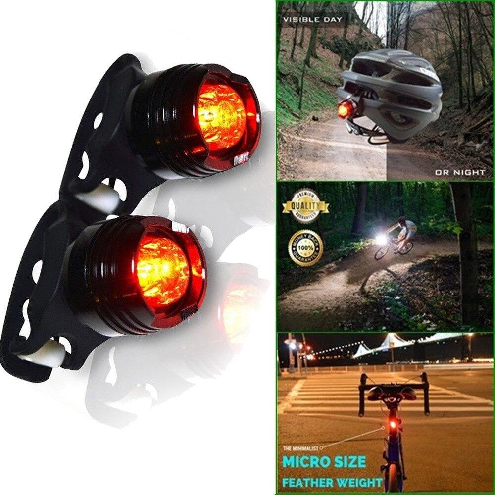 Luz trasera resistente al agua para bicicleta, accesorio para bici, luz trasera...