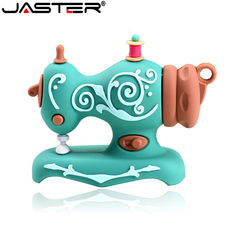 JASTER cartoon creative Sewing machine and bear style usb flash drive usb 2.0 4GB 8GB 16GB 32GB 64GB pendrive gift U disk