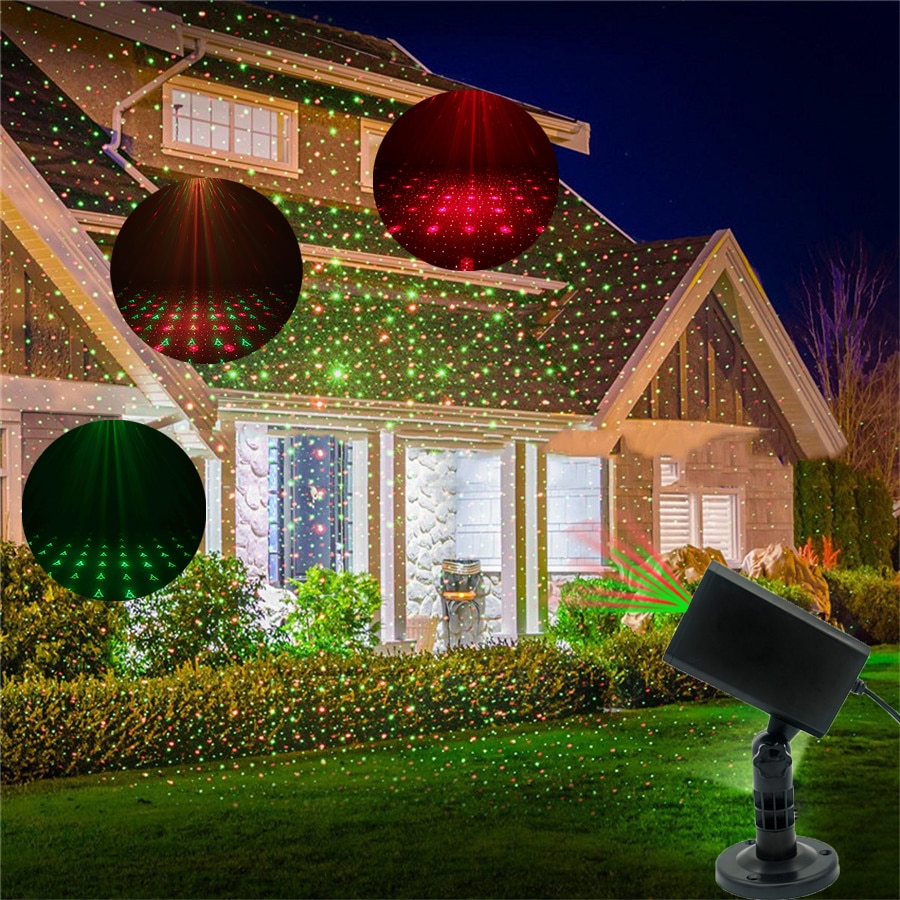 Moving Full Sky Star Laser Projector Landscape Lighting Red&Green Christmas Party LED Stage Light Outdoor Garden Lawn Laser Lamp outdoor solar garden lawn stage effect light fairy sky star laser projector waterproof landscape garden christmas decor lamp
