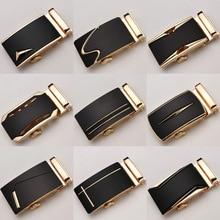 Fashion Luxury Glod Alloy Automatic Pu Belt Buckles for Men's Leather Waist Belts for Men Pants Belt Buckles 3.5cm Mens Belt