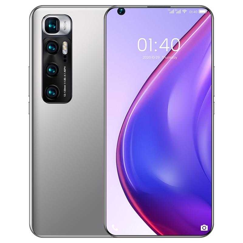 M10 Ultra 128GB+256GB Full Screen 6.8Inch Smart Phone Dual SIM 6000mAh Octa Core Cell Phone Finger I