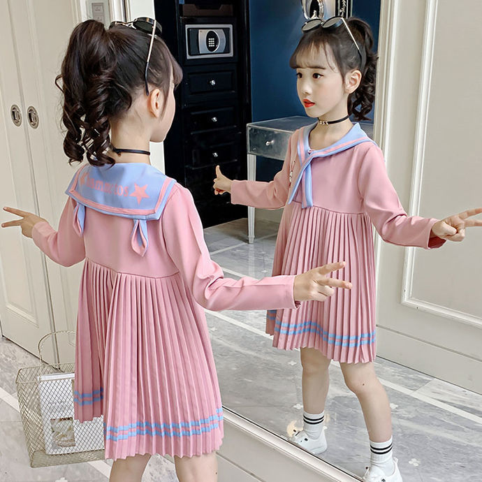 New Girls Dresses Embroidery Rabbit Long Sleeve Baby Girls Autumn Dresses Kids Clothing Casual Dresses for 2-12 Years Children