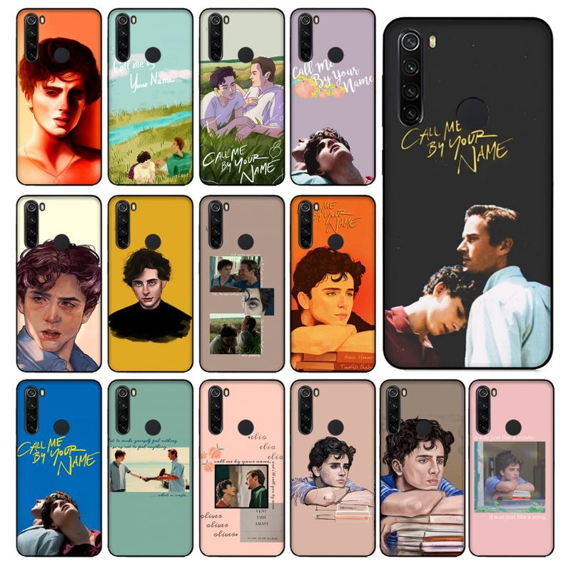 YNDFCNB movie Call Me by Your Name Phone Case for Xiaomi Redmi 5 5Plus 6 6A 4X 7 8 Note 5 5A 7 8 8Pro