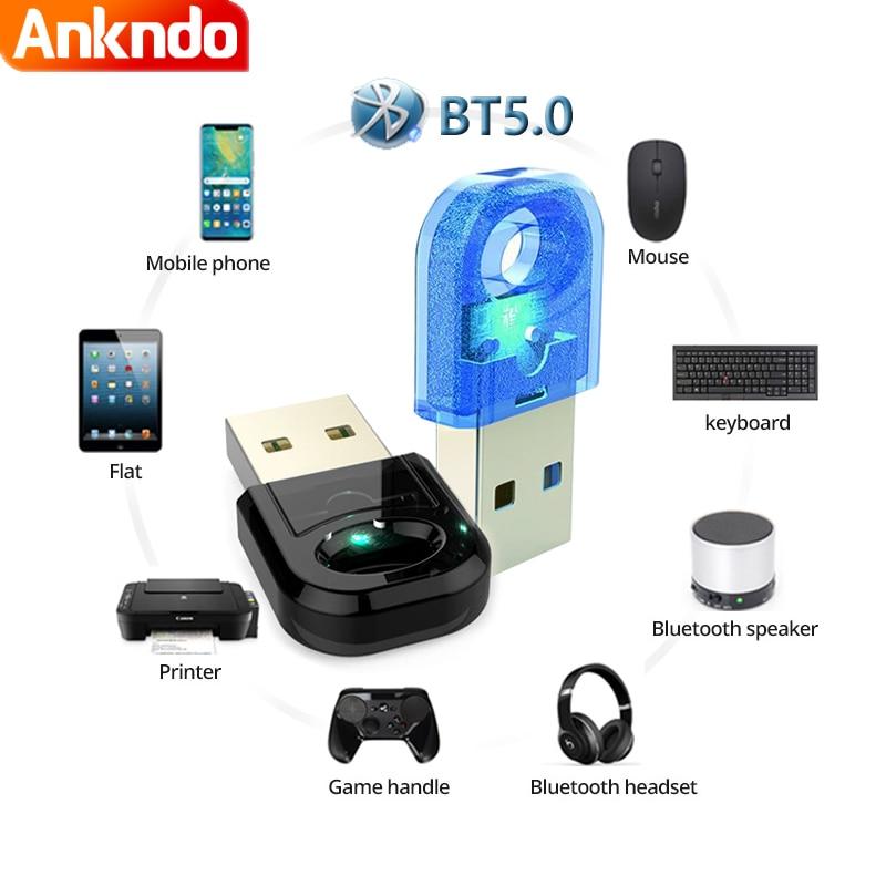 True 5.0 Bluetooth Adapter Usb Bluetooth Transmitter for Pc Computer Receptor Laptop Earphone Audio Printer Data Dongle Receiver