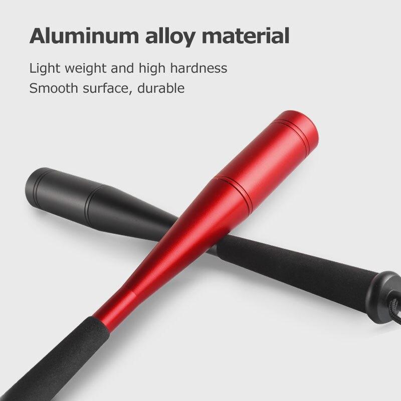 LINNHUE Aluminum Alloy Knocking Fish Sticks Red/Blue/Black Modern Shape Knocking Fish Head EVA Grip Portable Fishing Accessories enlarge