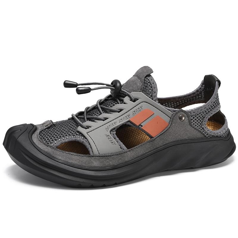 Na buty sprzedaż sandał oddychająca plaża męskie pantofle 39 rozmiar hot casual men s sandały męskie
