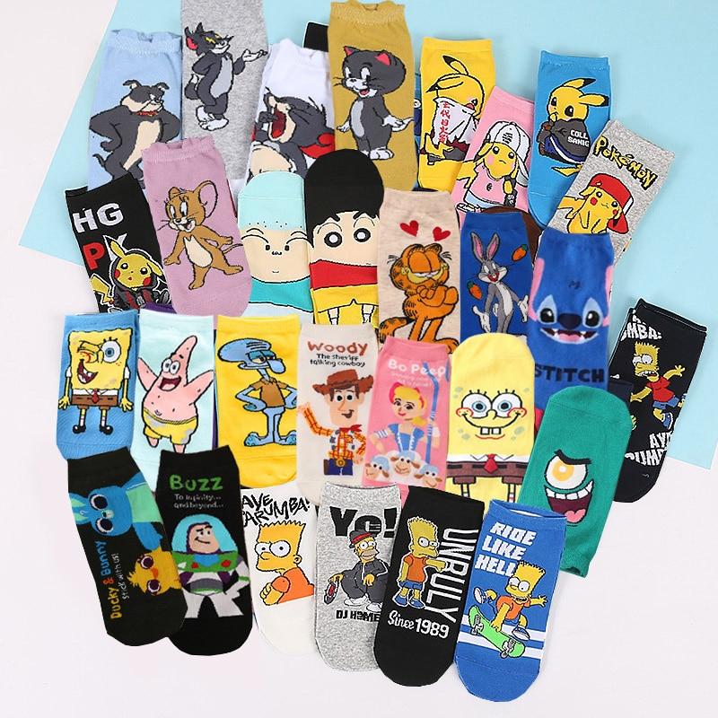 5 par/lote de calcetines informales de verano para mujer, calcetines tobilleros con diseño de oveja de dibujos animados, calcetines invisibles bonitos, calcetines finos de algodón, calcetines para mujer