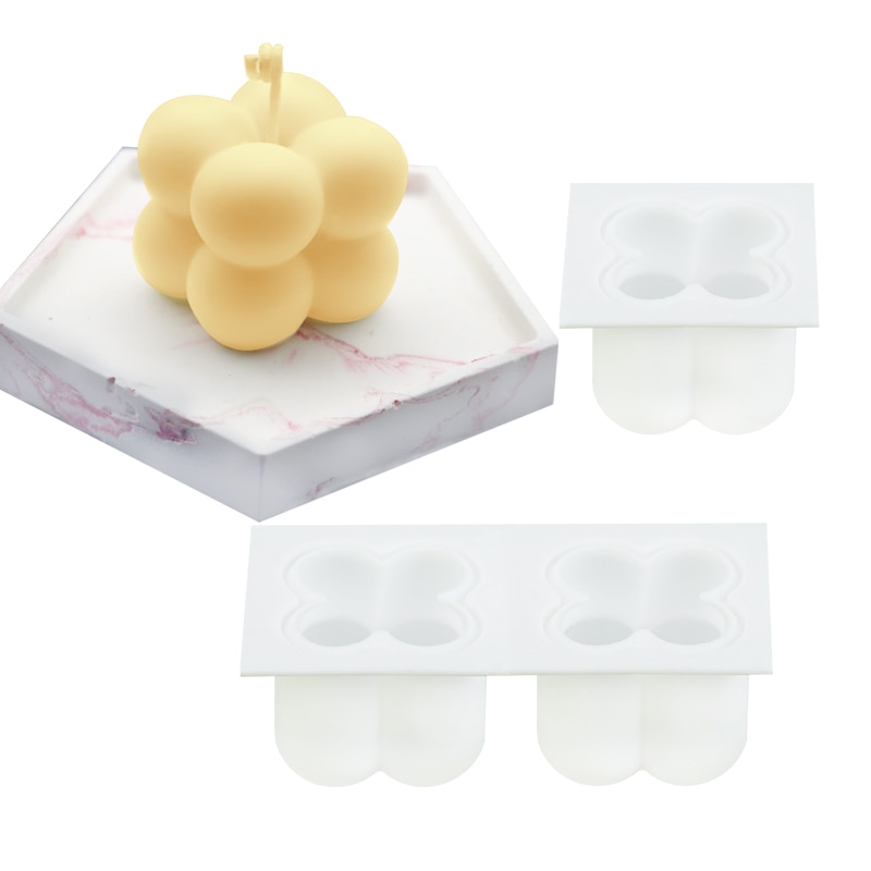 1pc Cube Candle Mold Silicone Wax Soap 3D Moulds Handmade DIY Candles Accessories For Home Supplies Aromatherapy Decors Tools  - buy with discount
