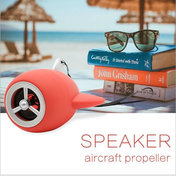 Mini avión Altavoz Bluetooth inalámbrico Boombox Subwoofer caja de sonido Rechargeabl bajo música con micrófono soporte TF USB FM Radio