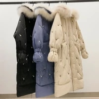 parkas women thick oversized jacket hooded fur collar casual outwear female coat winter warm soft oversize overcoat clothes