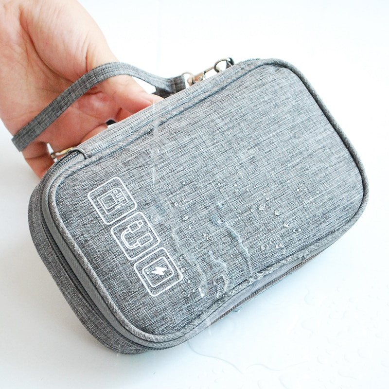 Cable Bag Organizer Wires Charger Digital USB Gadget Portable Electronic Earphone Case Zipper Storag