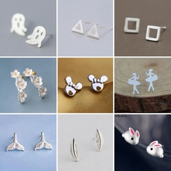 Smjel novo coreano mini triângulo geométrico brincos para mulheres baleia coelho ballet brinco oorbellen brincos presentes de casamento