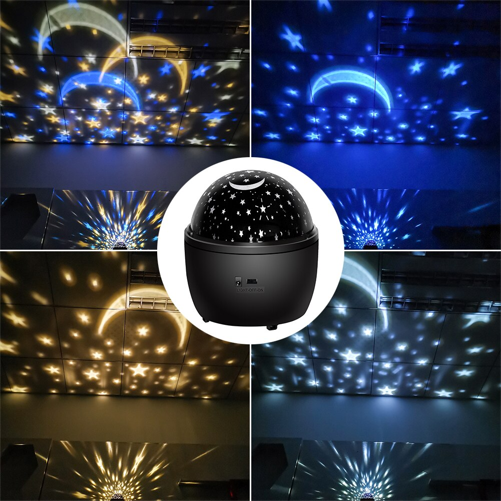 LED Projection Lamp USB Charging Landscape Laser Decorative Lamp Children Bedroom Star Night Lamp for Festival