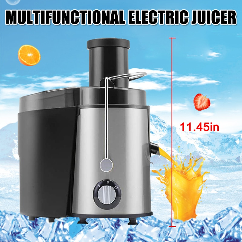 400w Stainless Steel Juicer Machine With Wide Mouth Chutes For Fruit Vegetable Household Juicer Squeezer Blender Bottle Kitchen