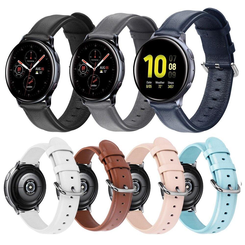 Кожаный ремешок для samsung Active2 44 мм 40 мм SM-R820 R830 R500 R600 R810 Galaxy Watch 42 Active 2 наручный браслет ремешок для часов