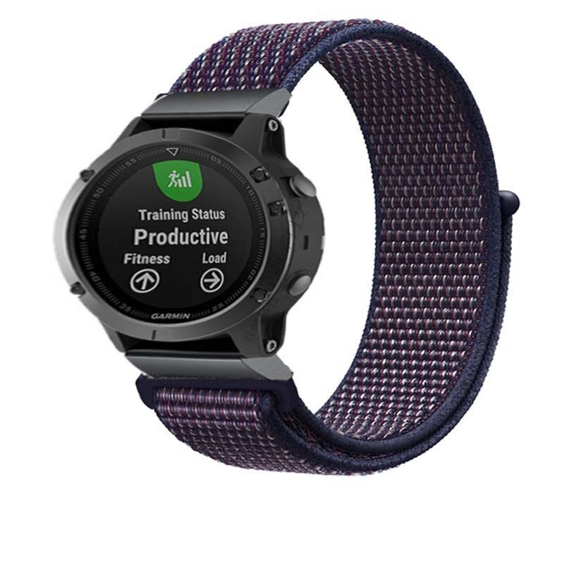 Nylon Woven Armband Für Garmin fenix 6X Pro 3 3hr 5X 5Xplus Strap weiche Atmungsaktive armband metall adpater