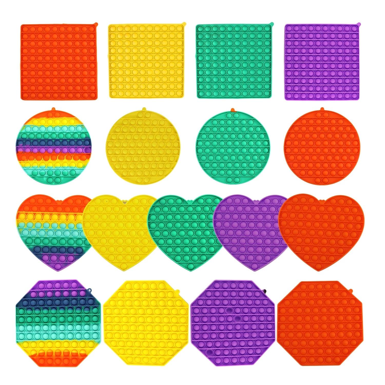 BIG SIZE PopsitsSquare Fidget Toys Antistress Toy Push Bubble Figet Sensory Squishy Jouet Pour Autiste For Adult Children Gift enlarge